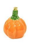 Ceramic pumpkin. Ceramic oil container in a shape of a pumpkin Stock Photos