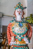 Ceramic puppet. Famous hand decorated ceramic puppets in Grottaglie, south of Italy Stock Images