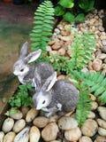 Ceramic rabbits royalty free stock images
