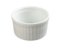 Ceramic Ramekin isolated with clipping path Stock Photos