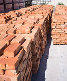 Ceramic red brick Stock Photos
