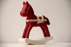 Ceramic rocking horse Stock Image