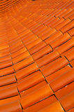 Ceramic roof. Pattern texture of ceramic roof Royalty Free Stock Image