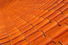 Ceramic roof. Pattern texture of ceramic roof Stock Photography