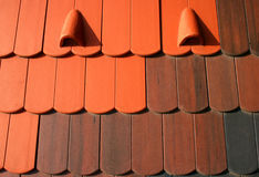 Ceramic roof cover tiles Royalty Free Stock Image