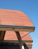 Ceramic roof detail of a modern construction Stock Photography