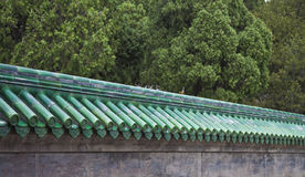Ceramic roof of the pagoda Stock Image
