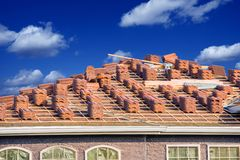 Ceramic Roof Slates Royalty Free Stock Photo