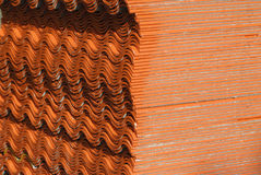 Ceramic roof texture . Royalty Free Stock Photos