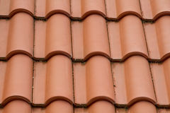Ceramic roof tiles Royalty Free Stock Images