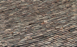 Ceramic roof tiles. Old ceramic roof tiles on a turn of the century building in Cuba Stock Photos