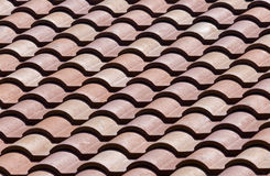 Ceramic roof tiles - pattern / background Stock Photography