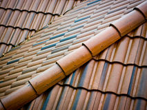 Ceramic roofing tiles. Red ceramic roofing tiles abstract Royalty Free Stock Image