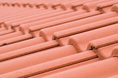 Ceramic roofing tiles stock image