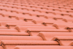 Ceramic roofing tiles texture. Roofing tiles diminishing perspective texture Stock Image