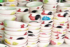 Ceramic rooster bowl Stock Image
