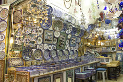 Ceramic's shop in old town of Jerusalem Royalty Free Stock Images