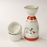 Ceramic Sake Set Royalty Free Stock Image