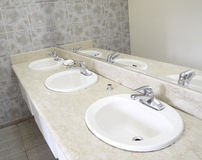 Ceramic sanitary ware bathroom. Hotels in ceramic sanitary ware bathroom Royalty Free Stock Photography