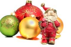 Ceramic Santa Claus Christmas balls Stock Photos