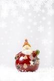 Ceramic Santa Claus decoration Stock Image