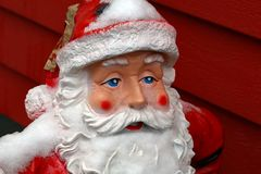 Ceramic Santa Claus at the entrance to the House.  royalty free stock image