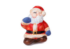 Ceramic Santa Claus isolated on white Stock Image