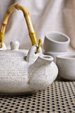 Ceramic set for tea ceremony Royalty Free Stock Photo