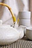Ceramic set for tea ceremony Stock Images