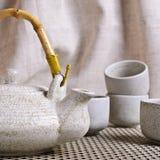 Ceramic set for tea ceremony Royalty Free Stock Image