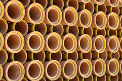 Ceramic Sewer Pipe Background Stock Images
