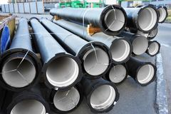 Ceramic sewer pipe Stock Photos