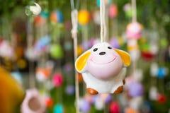 Ceramic sheep Royalty Free Stock Images