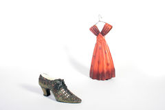 Ceramic shoe and dress Royalty Free Stock Image