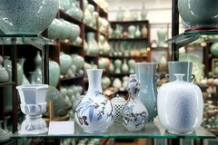 Ceramic shop Stock Photography