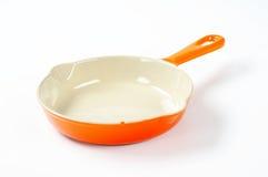 Ceramic skillet Stock Photo
