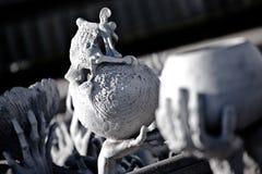 Ceramic Skull at Wat Rong Khun. Wat Rong Khun - White Temple - Chiang Rai, Thailand Stock Images