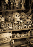 Ceramic skulls souvenirs Stock Images
