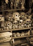 Ceramic skulls souvenirs Stock Images