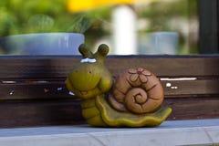 Ceramic snail Royalty Free Stock Photography