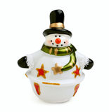 Ceramic snowman Stock Photos