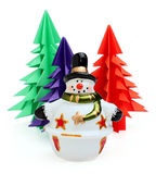 Ceramic snowman Royalty Free Stock Photo