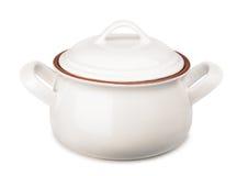 Ceramic soup pot Stock Photos