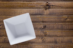 Ceramic soup square plate Stock Image