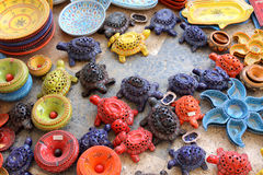 Ceramic souvenirs Royalty Free Stock Images