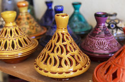 Ceramic Souvenirs of Fez, Morocco Royalty Free Stock Images