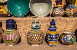 Ceramic Souvenirs of Fez, Morocco Stock Photography