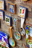 Ceramic souvenirs in Siena Stock Photography
