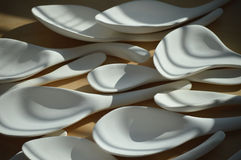 Ceramic Spoons Royalty Free Stock Image