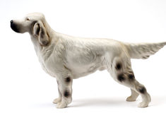 Ceramic statue english setter pedigree dog Stock Images